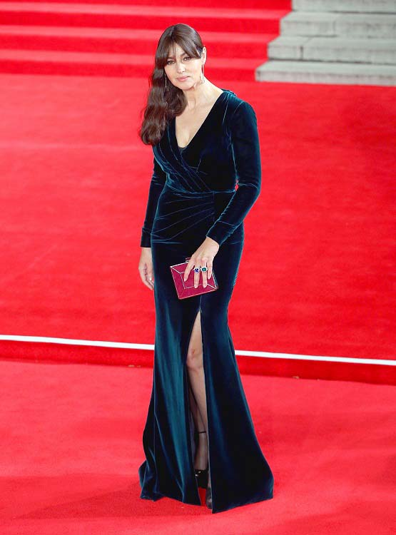 """LONDON, ENGLAND - OCTOBER 26:  Monica Bellucci attends the Royal Film Performance of  """"Spectre"""" at Royal Albert Hall on October 26, 2015 in London, England.  (Photo by Danny Martindale/WireImage)"""