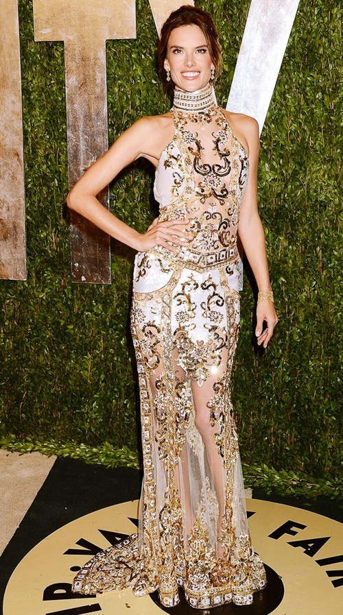 Mandatory Credit: Photo by Broadimage / Rex Features (2165837ek) Alessandra Ambrosio 85th Annual Academy Awards Oscars, Vanity Fair Party, Los Angeles, America - 24 Feb 2013 WEARING ZUHAIR MURAD