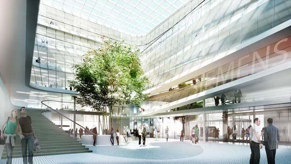 Siemens new headaquarters in Munich, Germany, is designed by Henning Larsen Archtects.