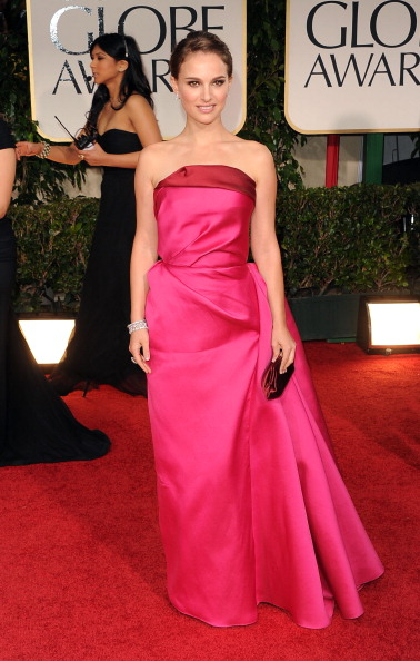 BEVERLY HILLS, CA - JANUARY 15:  Actress Natalie Portman arrives at the 69th Annual Golden Globe Awards held at the Beverly Hilton Hotel on January 15, 2012 in Beverly Hills, California.  (Photo by Jason Merritt/Getty Images)