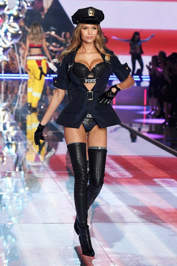 NEW YORK, NY - NOVEMBER 10: Model Josephine Skriver from Denmark walks the runway during the 2015 Victoria's Secret Fashion Show at Lexington Avenue Armory on November 10, 2015 in New York City. (Photo by Dimitrios Kambouris/Getty Images for Victoria's Secret)