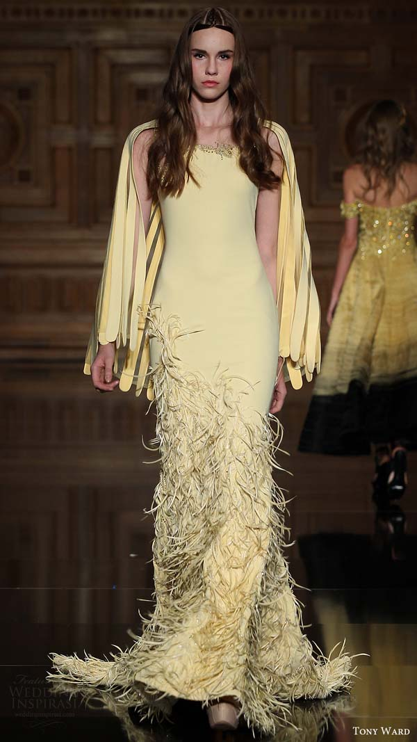 herstyle.com.vn-tony-ward-couture-fall-2016-long-sleeves-yellow-feather-trumpet-dress-13-mv