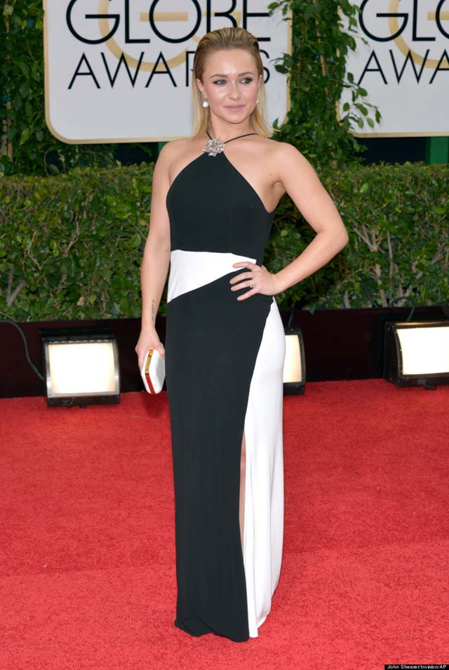 Hayden Panettiere arrives at the 71st annual Golden Globe Awards at the Beverly Hilton Hotel on Sunday, Jan. 12, 2014, in Beverly Hills, Calif. (Photo by John Shearer/Invision/AP)